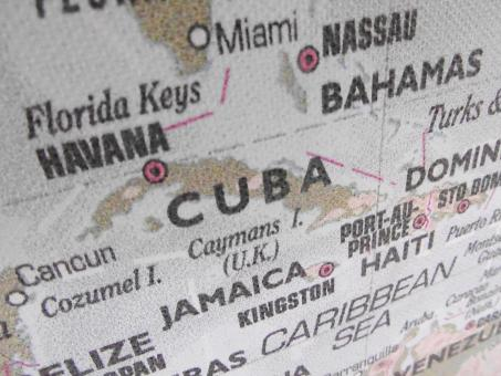 Free Stock Photo of Cuba Map