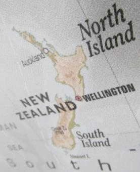 Free Stock Photo of New Zealand Map