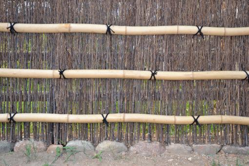 Free Stock Photo of Bamboo fence
