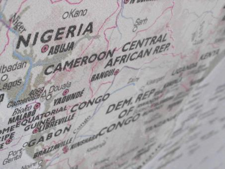 Free Stock Photo of Nigeria and Cameroon Map