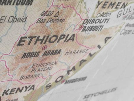 Free Stock Photo of Ethiopia Map