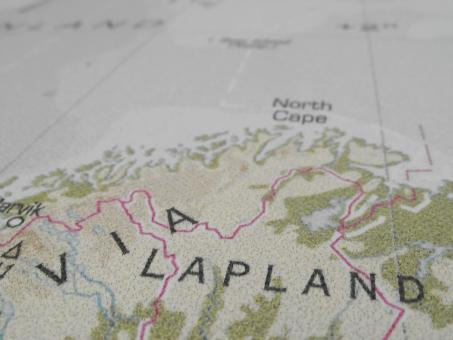 Free Stock Photo of Lapland Map