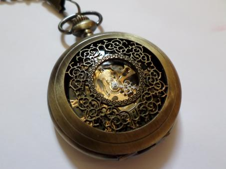 Free Stock Photo of Skeleton Pocket Watch