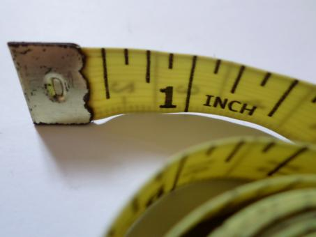 Free Stock Photo of Measuring tape close up