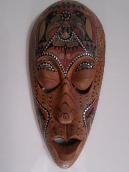 Free Stock Photo of Indonesian wooden mask