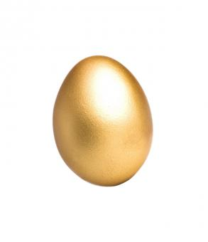 Free Stock Photo of Golden Colored Egg