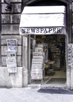 Free Stock Photo of Newspaper Shop