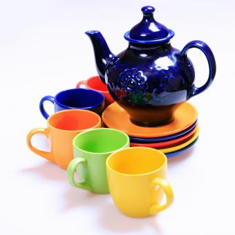 Free Stock Photo of cups and teapot