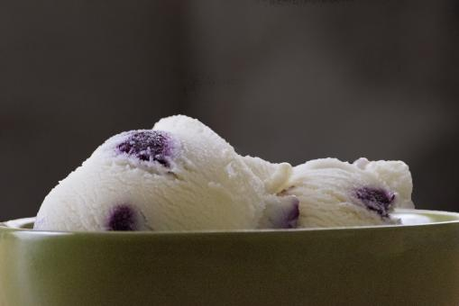 Free Stock Photo of Blueberry Ice Cream