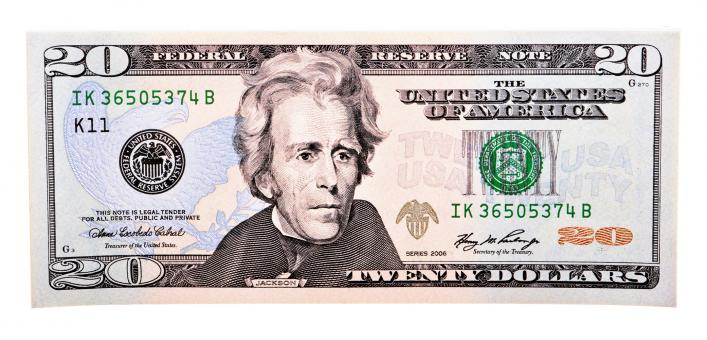 Free Stock Photo of Twenty dollar bill
