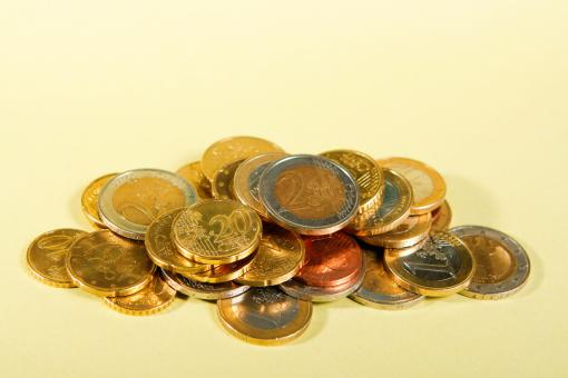 Free Stock Photo of euro coins
