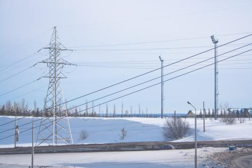Free Stock Photo of electrical power lines