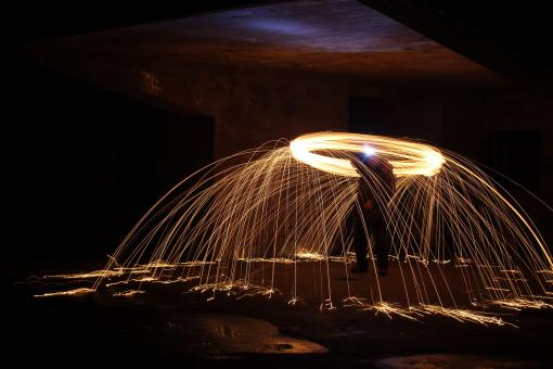 Free Stock Photo of Light painting