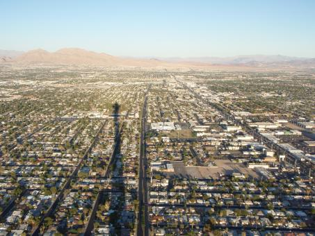 Free Stock Photo of Las Vegas from above