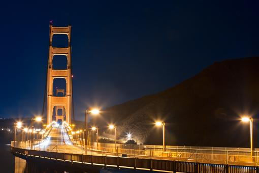 Free Stock Photo of Golden Gate Bridge - Pre-Dawn