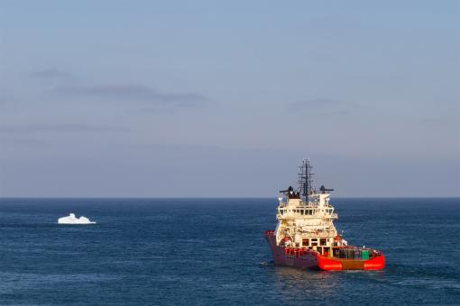 Free Stock Photo of Supply Vessel Leaving Port