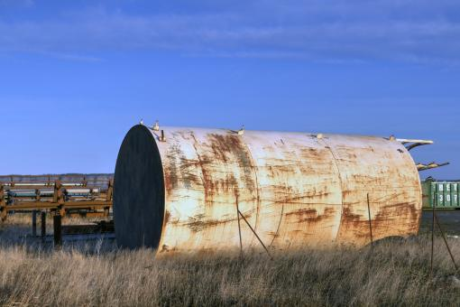 Free Stock Photo of Oil storage tank