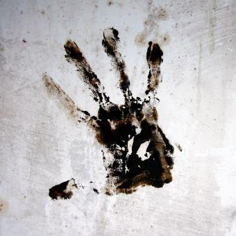 Free Stock Photo of Hand print