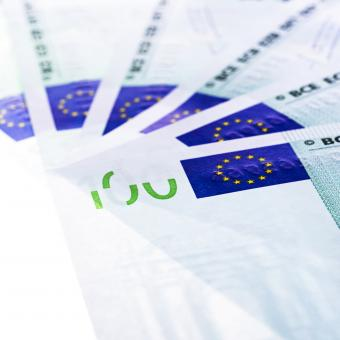 Free Stock Photo of 100 euro bills