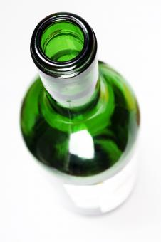 Free Stock Photo of Green Glass Bottle - Top