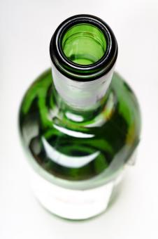 Free Stock Photo of Green Glass Bottle Top