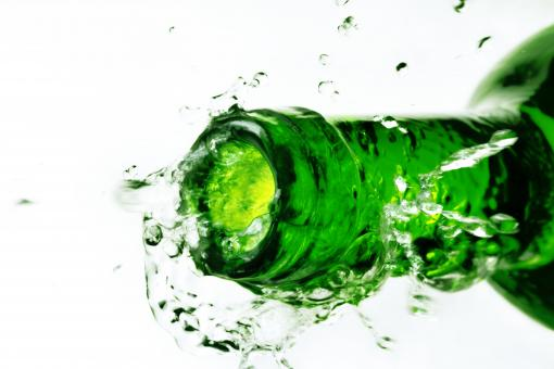 Free Stock Photo of Green Water Bottle Splash