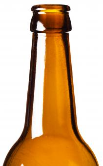 Free Stock Photo of Brown Glass Bottle Neck