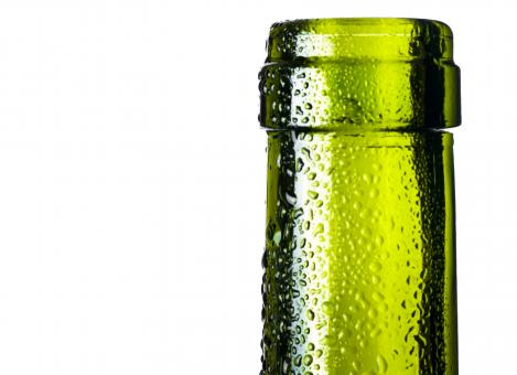 Free Stock Photo of Glass bottle with dew