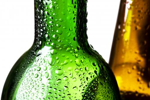 Free Stock Photo of Wet Glass Bottles