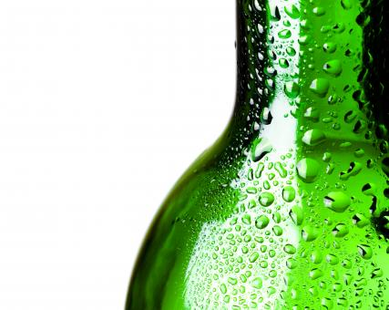 Free Stock Photo of Glass bottle with water drops