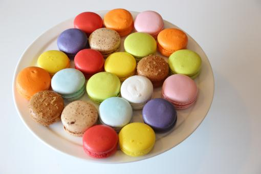 Free Stock Photo of Colorful Macarons