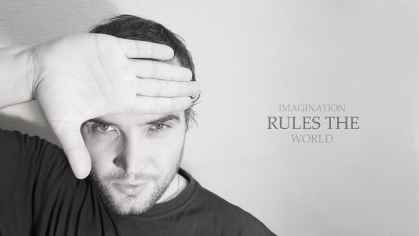 Free Stock Photo of Imagination rules the world