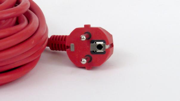 Free Stock Photo of Red power cable