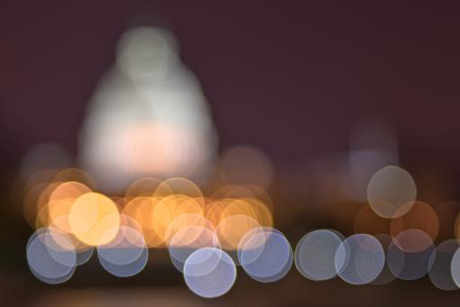 Free Stock Photo of Abstract Bokeh Background - Capitol HDR