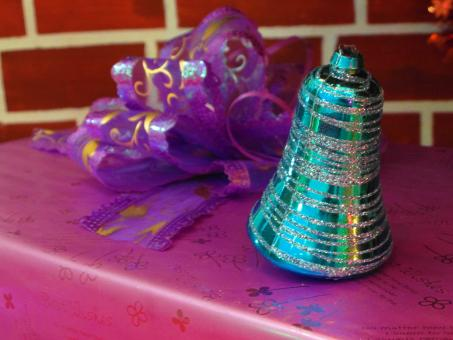 Free Stock Photo of Christmas Bell and Present