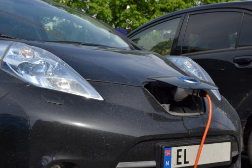 Free Stock Photo of Charging Nissan Leaf