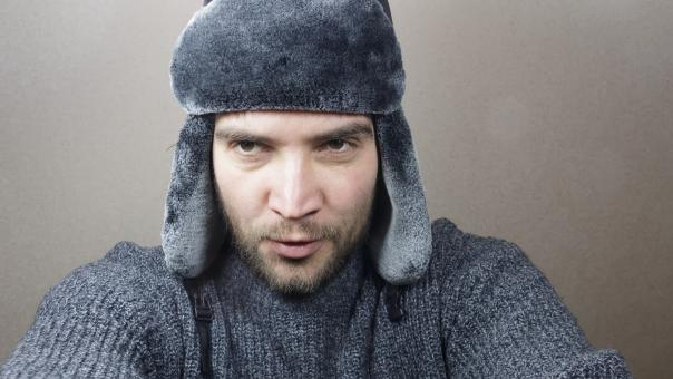 Free Stock Photo of Young man dressed for winter