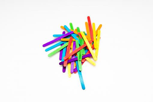 Free Stock Photo of Colorful Sticks