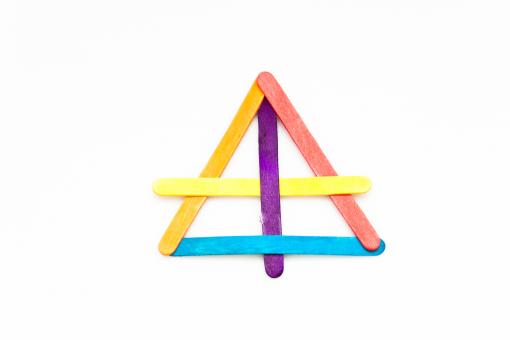 Free Stock Photo of Triangle from Sticks