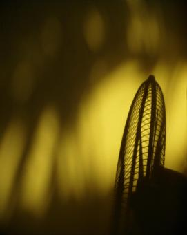 Free Stock Photo of Summer Heat Fan Silhouette