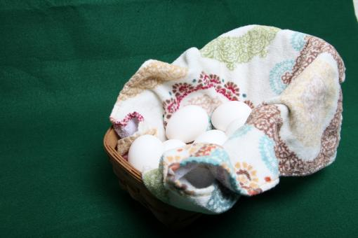 Free Stock Photo of Eggs in a basket