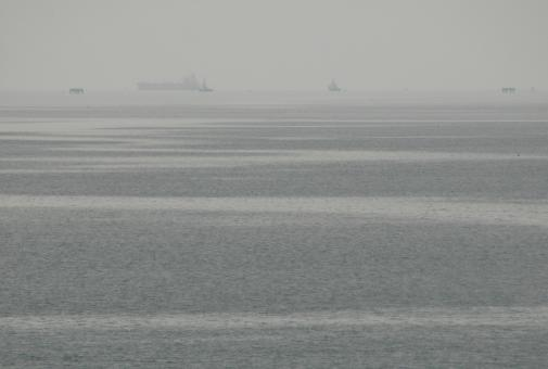 Free Stock Photo of Grey Misty Ocean