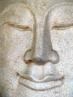 Free Stock Photo of Cracked Buddha Face