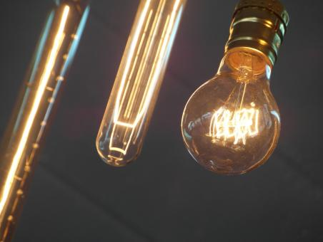 Free Stock Photo of Edison Light Bulbs