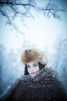 Free Stock Photo of Lenka - Blue Winter