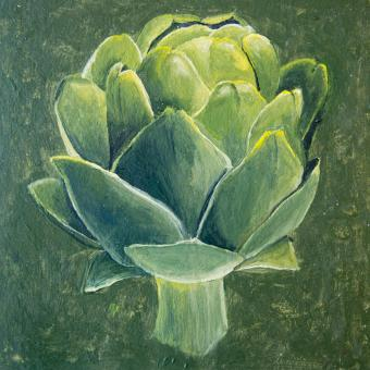 Free Stock Photo of Acrylic painting of an artichoke