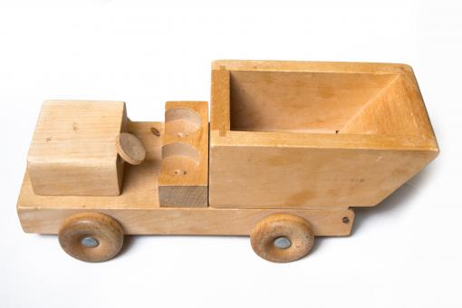 Free Stock Photo of Wooden truck toy