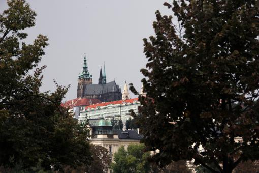 Free Stock Photo of Prague Cathedral in the Distance