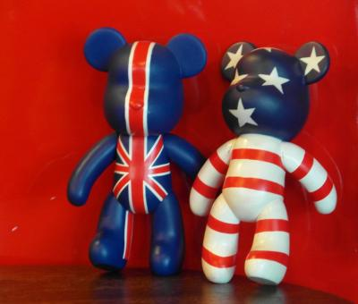 Free Stock Photo of USA UK Teddy Bears