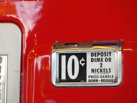 Free Stock Photo of Vintage Red Vending Machine